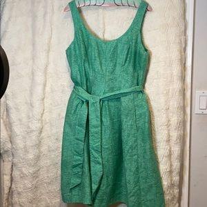 Nine West Green Belted Sleeveless Dress
